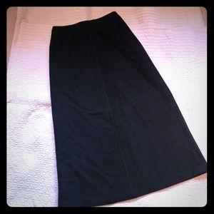 JCrew long wool skirt